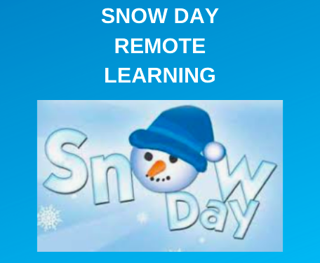 Due To Weather - Remote Learning Day - 02/16/2021